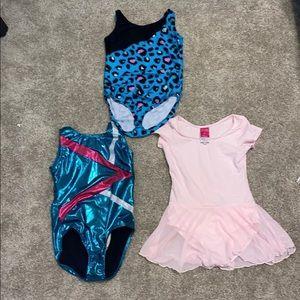Girls Gymnastics Dance Leotard Bundle